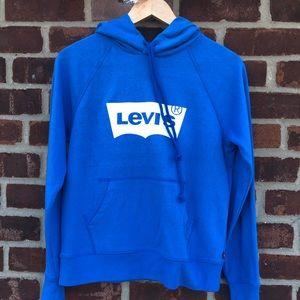 Blue Levi's hooded sweatshirt